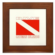 Dive Cayman Islands Framed Tile