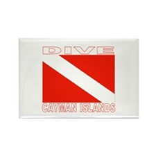 Dive Cayman Islands Rectangle Magnet