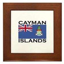 Cayman Islands Flag Framed Tile