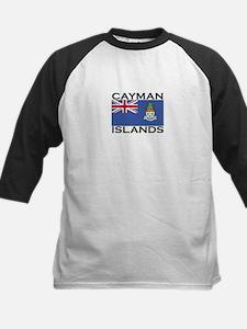 Cayman Islands Flag Kids Baseball Jersey