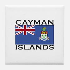 Cayman Islands Flag Tile Coaster