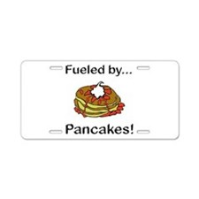 Fueled by Pancakes Aluminum License Plate