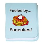Fueled by Pancakes baby blanket