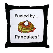 Fueled by Pancakes Throw Pillow