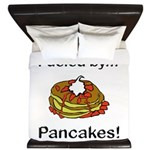 Fueled by Pancakes King Duvet