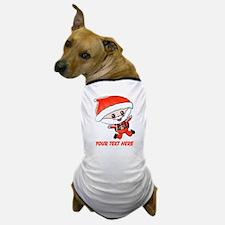 Skydiving Santa and Text Dog T-Shirt
