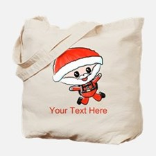 Skydiving Santa and Text Tote Bag