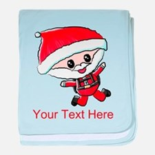 Skydiving Santa and Text baby blanket