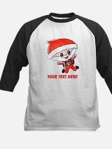 Skydiving Santa and Text Baseball Jersey