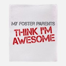 Foster Parents Awesome Throw Blanket