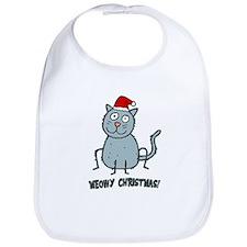 Meowy Christmas Christmas Cat Bib