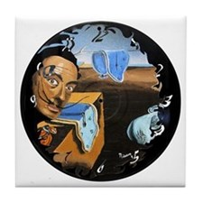 Dali! on Vinyl Tile Coaster