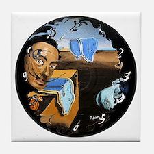Dali! on Vinyl Tile Coaster
