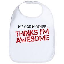 God Mother Awesome Bib