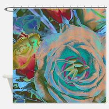 Beautiful Blue Rose Shower Curtain