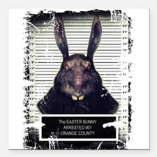 Evil Easter Bunny Rabbit SOLO Square Car Magnet 3""
