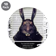 """Evil Easter Bunny Rabbit SOLO 3.5"""" Button (10 pack"""