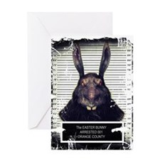 Evil Easter Bunny Rabbit SOLO Greeting Cards