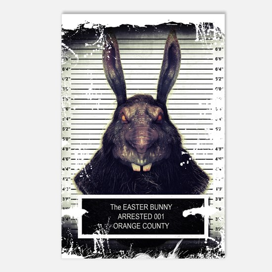 Evil Easter Bunny Rabbit SOLO Postcards (Package o