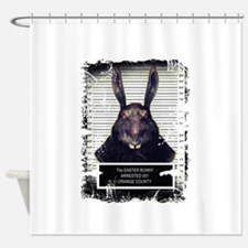 Evil Easter Bunny Rabbit SOLO Shower Curtain