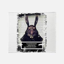 Evil Easter Bunny Rabbit SOLO Throw Blanket