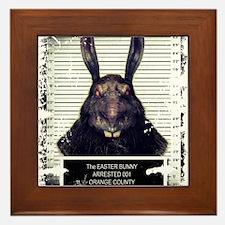 Evil Easter Bunny Rabbit SOLO Framed Tile