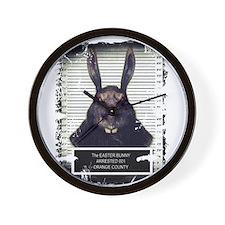 Evil Easter Bunny Rabbit SOLO Wall Clock