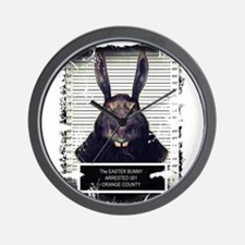 Evil Easter Bunny Rabbit SOLO Wall Clock