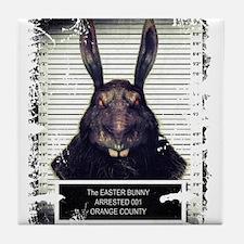 Evil Easter Bunny Rabbit SOLO Tile Coaster