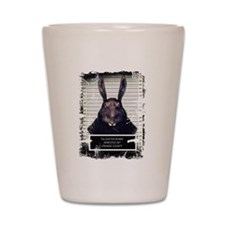 Evil Easter Bunny Rabbit SOLO Shot Glass