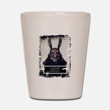 Evil Easter Bunny Rabbit SOLO Shot Glass