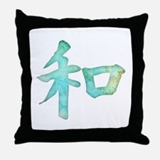 Kanji - harmony Throw Pillow