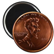 Loki Heathen Cent Magnet