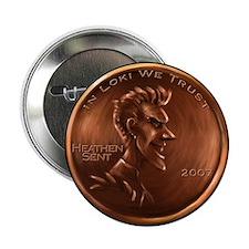 Loki Heathen Cent Button