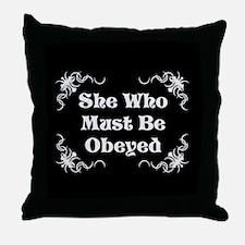 She's the Boss Throw Pillow