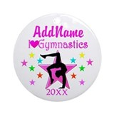 Gymnastics Round Ornaments