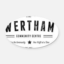 Misfits Wertham Community Centre Oval Car Magnet
