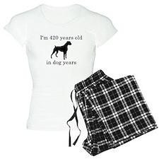 60 birthday dog years boxer Pajamas
