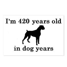 60 birthday dog years boxer 2 Postcards (Package o