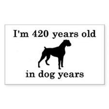 60 birthday dog years boxer 2 Decal