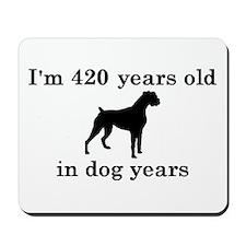 60 birthday dog years boxer 2 Mousepad