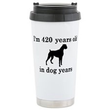 60 birthday dog years boxer 2 Travel Mug