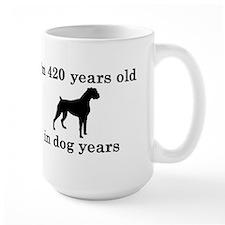 60 birthday dog years boxer 2 Mugs