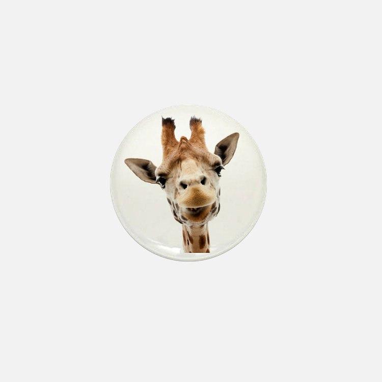 Funny Smiling Giraffe Mini Button
