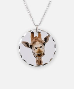 Funny Smiling Giraffe Necklace