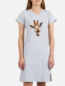Funny Smiling Giraffe Women's Nightshirt