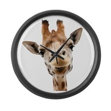 Funny Smiling Giraffe Large Wall Clock