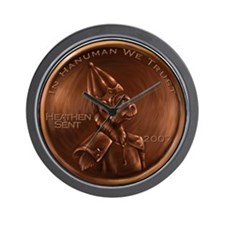 Hanuman Heathen Cent Wall Clock