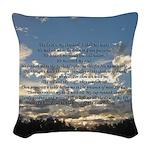 Beautiful Psalm 23 Woven Throw Pillow