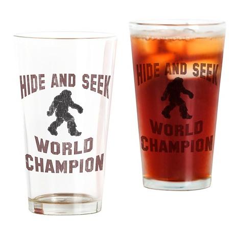 Bigfoot Hide and Seek Drinking Glass